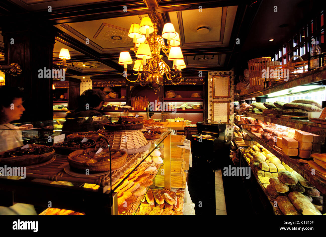 France, Nord, Lille, old town, Paul bakery-cake shop - Stock Image
