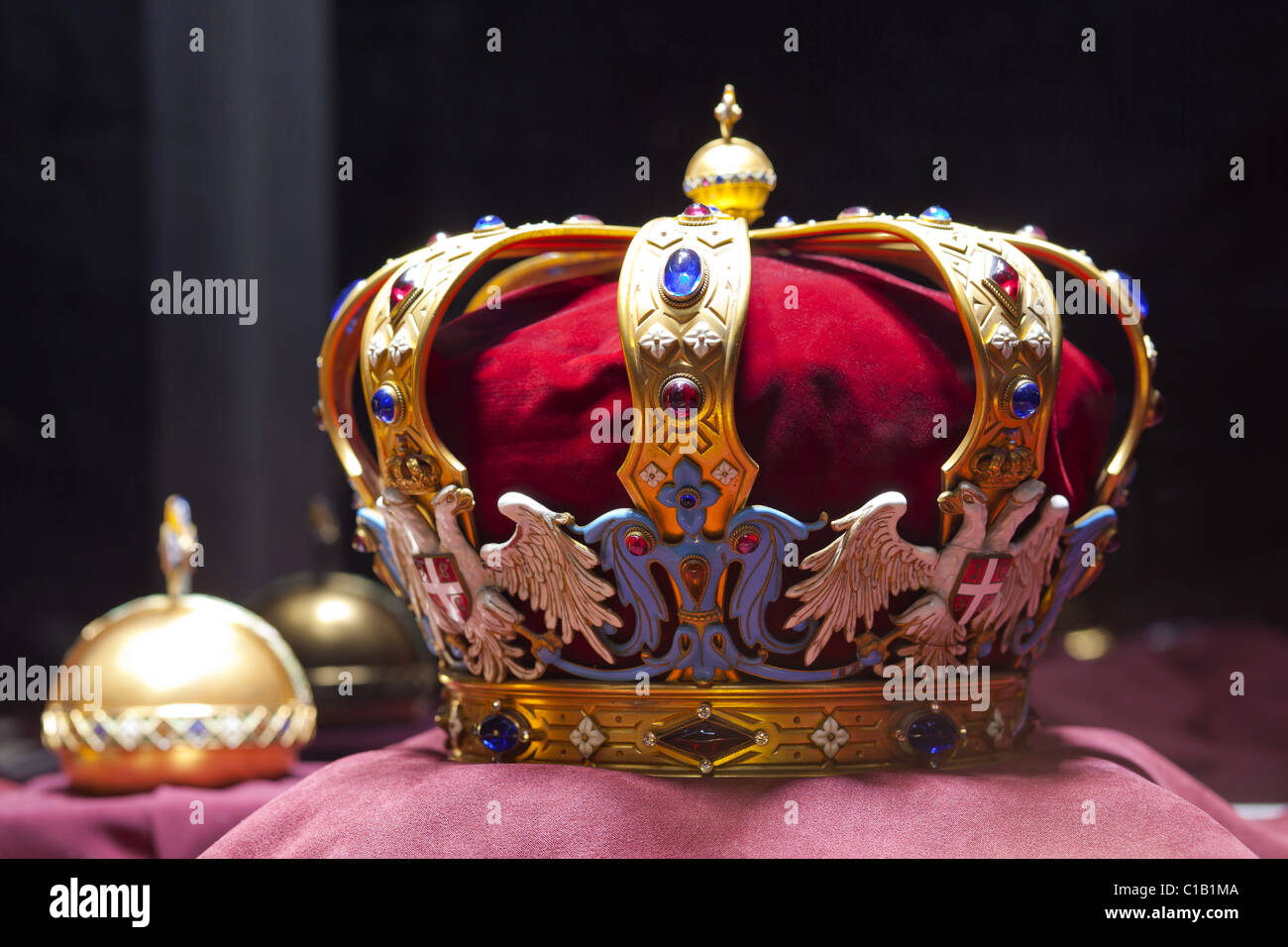 Serbian Royal Crown Insignia - Stock Image