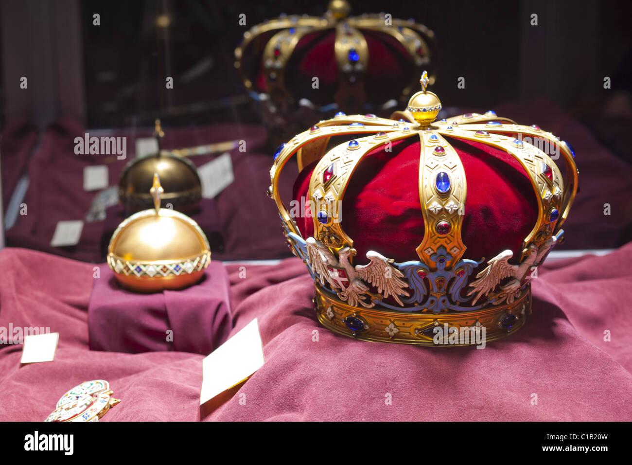 Serbian Royal Crown Insignia - Stock Image