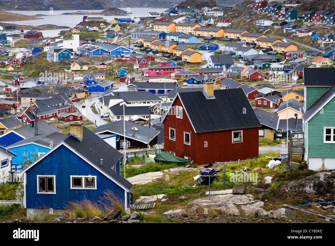 Qaqortoq (Julianehåb), South Greenland - Stock Image