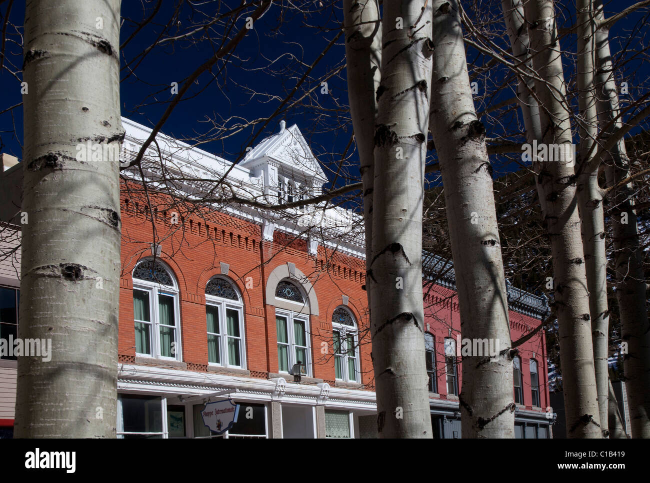 Georgetown, Colorado - Buildings along the main street in an historic silver mining town. - Stock Image