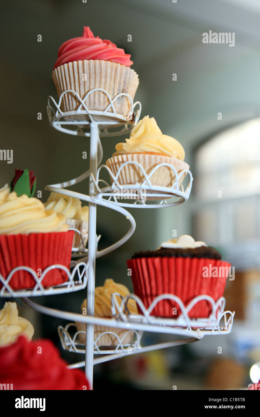 Cupcakes On A Stand In A Cafe Stock Photo 35281467 Alamy