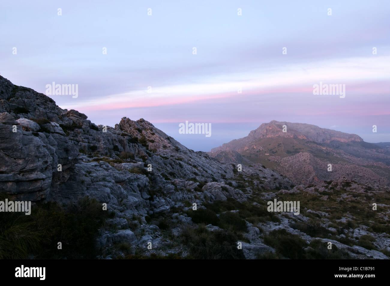on way to Sa Calobra with view to Puig Roig,Serra de Tramuntana, Mallorca, Spain, 2011 - Stock Image