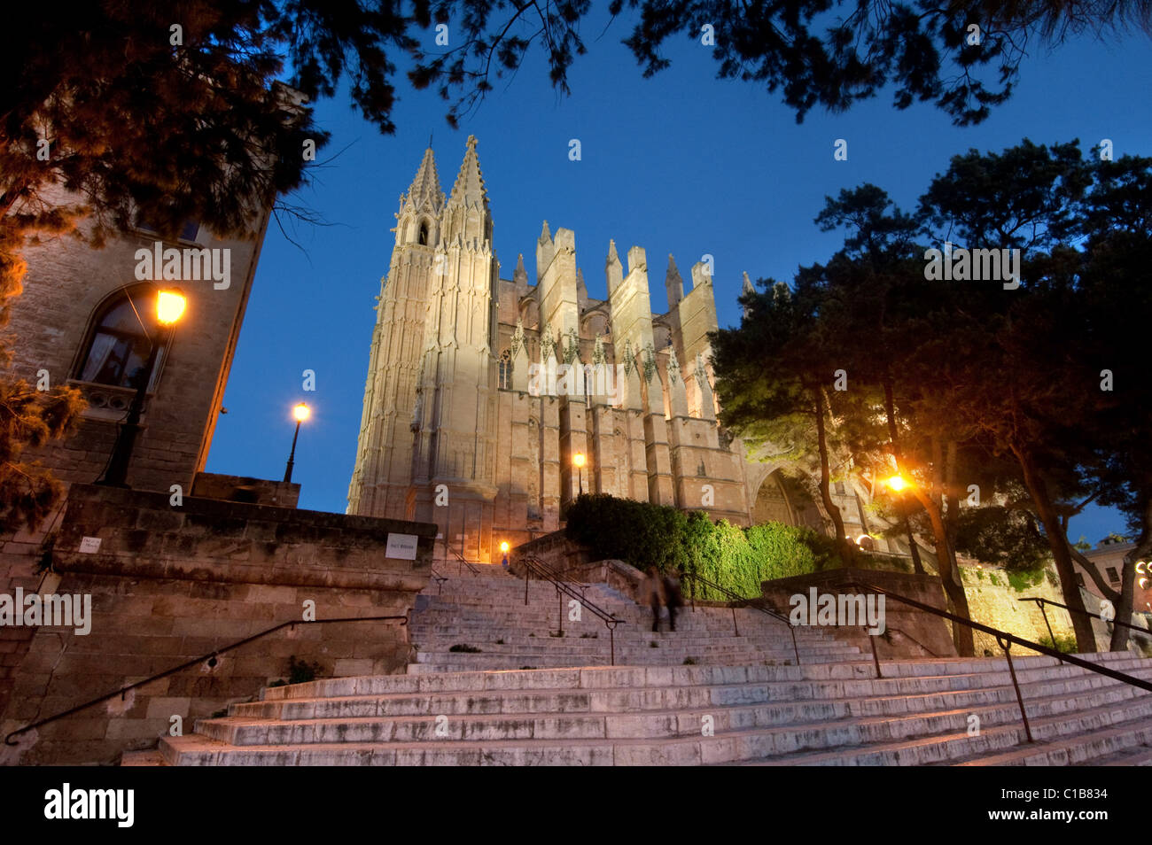 ES - MALLORCA: La Seu Cathedral at Palma de Mallorca, Spain - Stock Image
