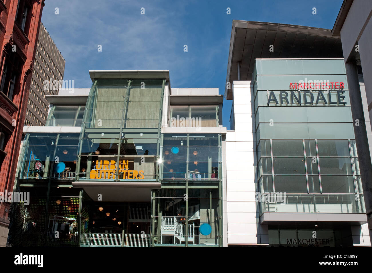 Shopping Manchester, one of the entrances to Manchester Arndale, the UKs largest inner city shopping centre. - Stock Image