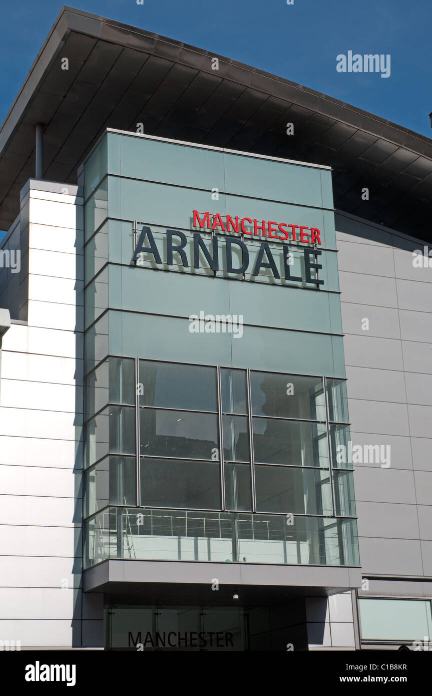 Manchester Arndale shopping centre.The UK's largest inner city shopping centre. - Stock Image