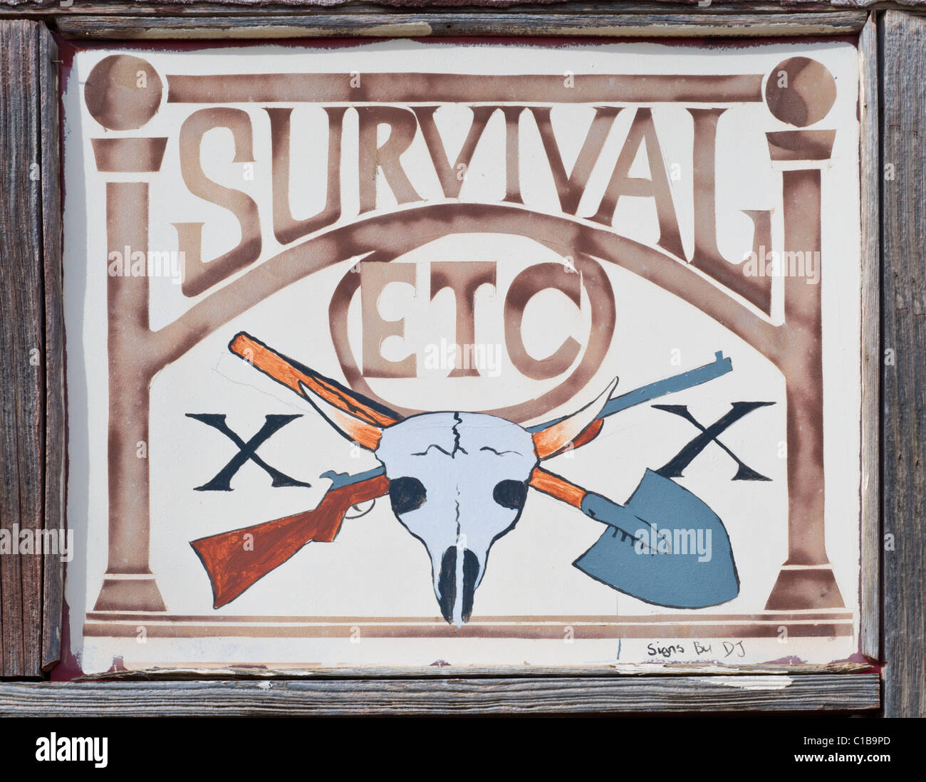 Survival etc. store in Mountainair, New Mexico. - Stock Image
