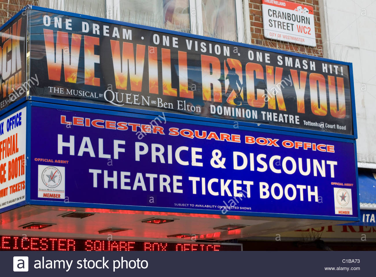 Leicester Square Theater Tickets Stock Photos Amp Leicester