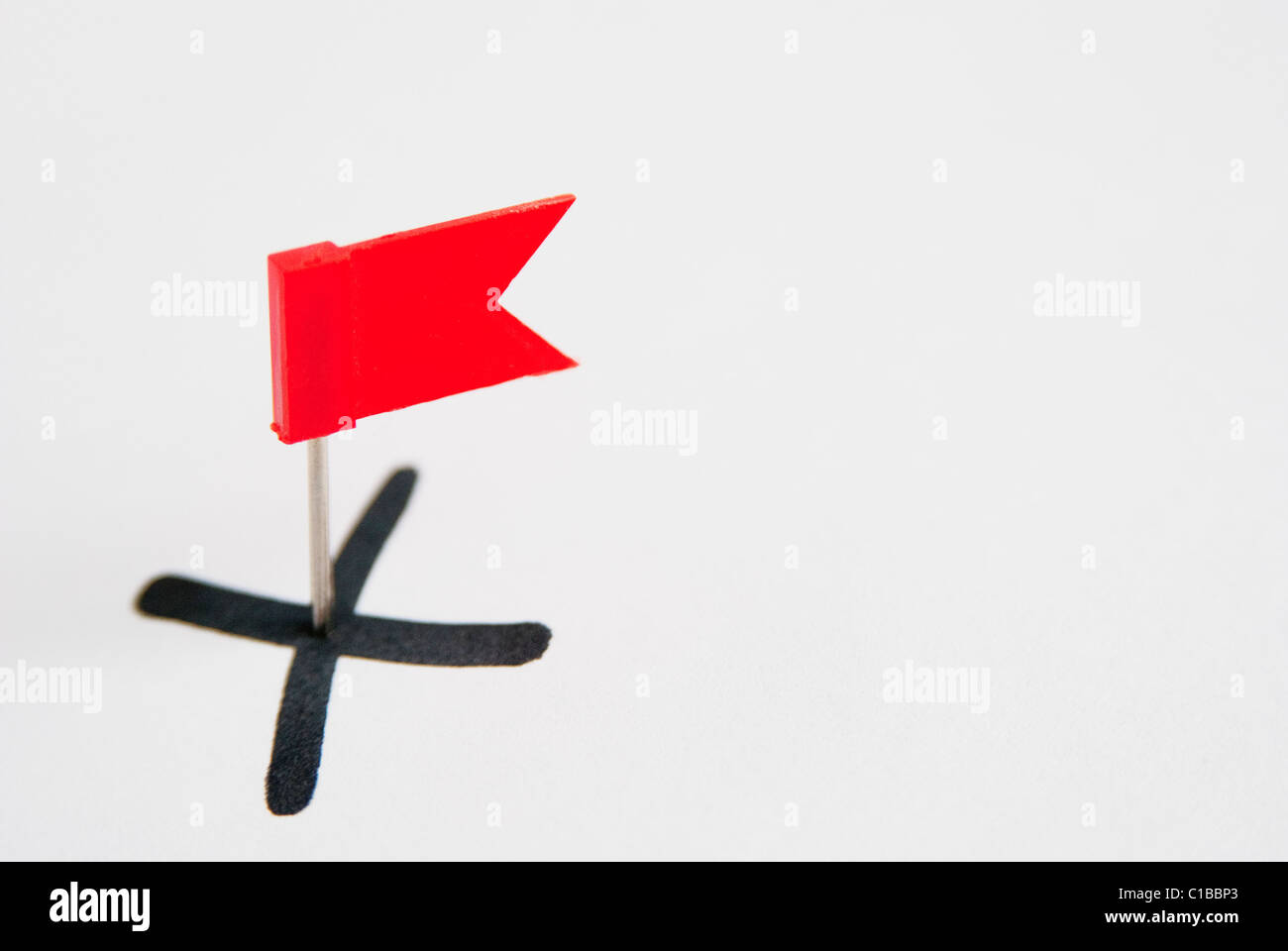 Red flag on X - Stock Image