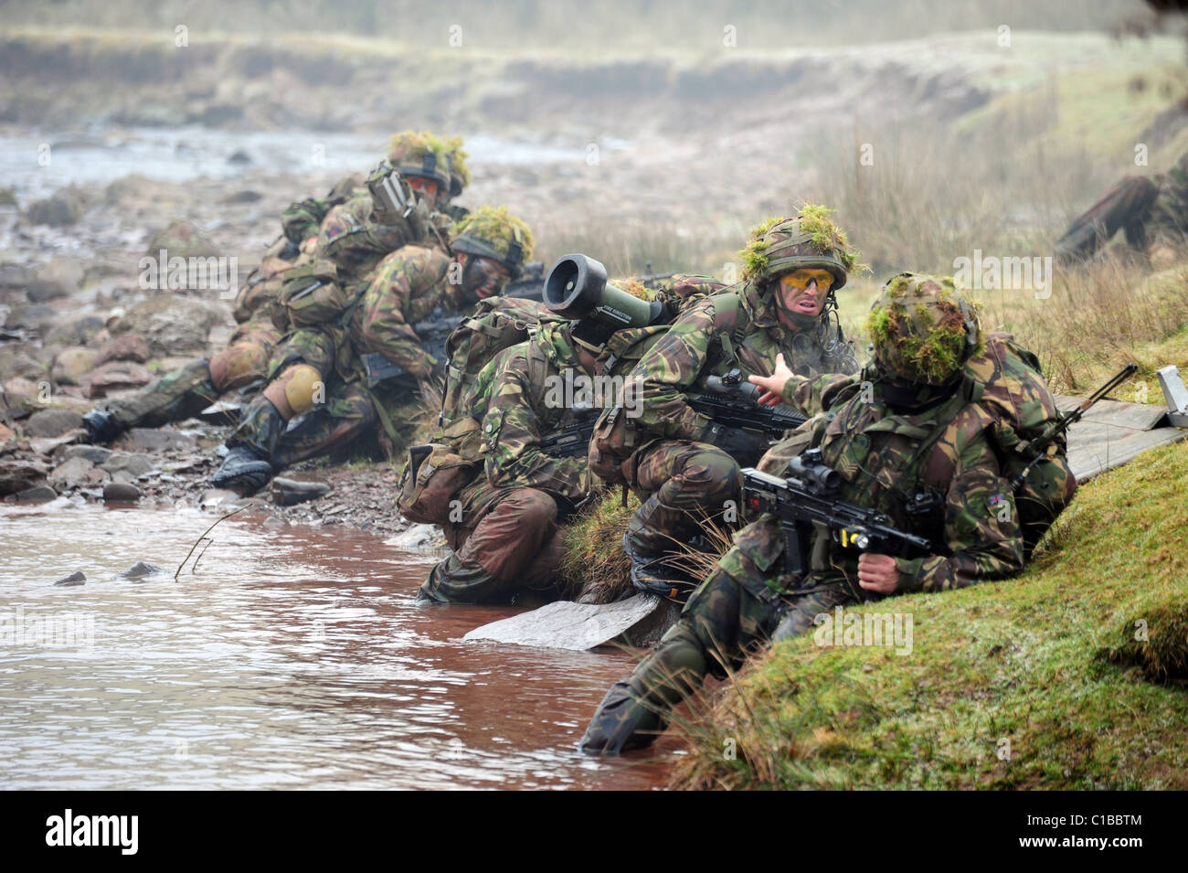 PSBC is a promotion qualifying-course, to Sergeant, for Rifle Company Platoon Sergeants - Stock Image