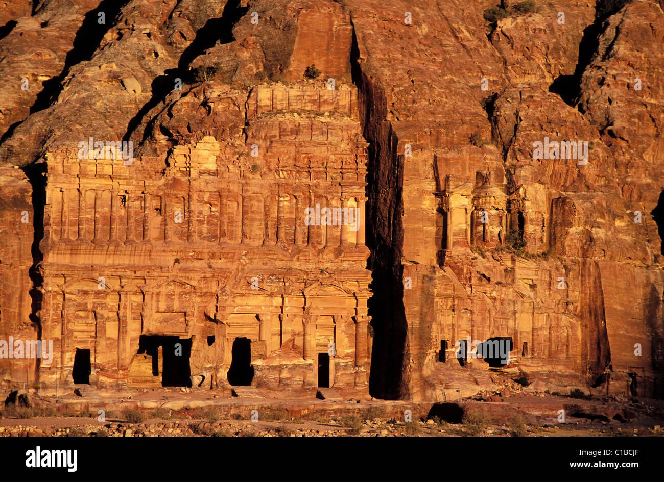 Jordan, Petra, the royal graves with floors and Corinthian grave Stock Photo