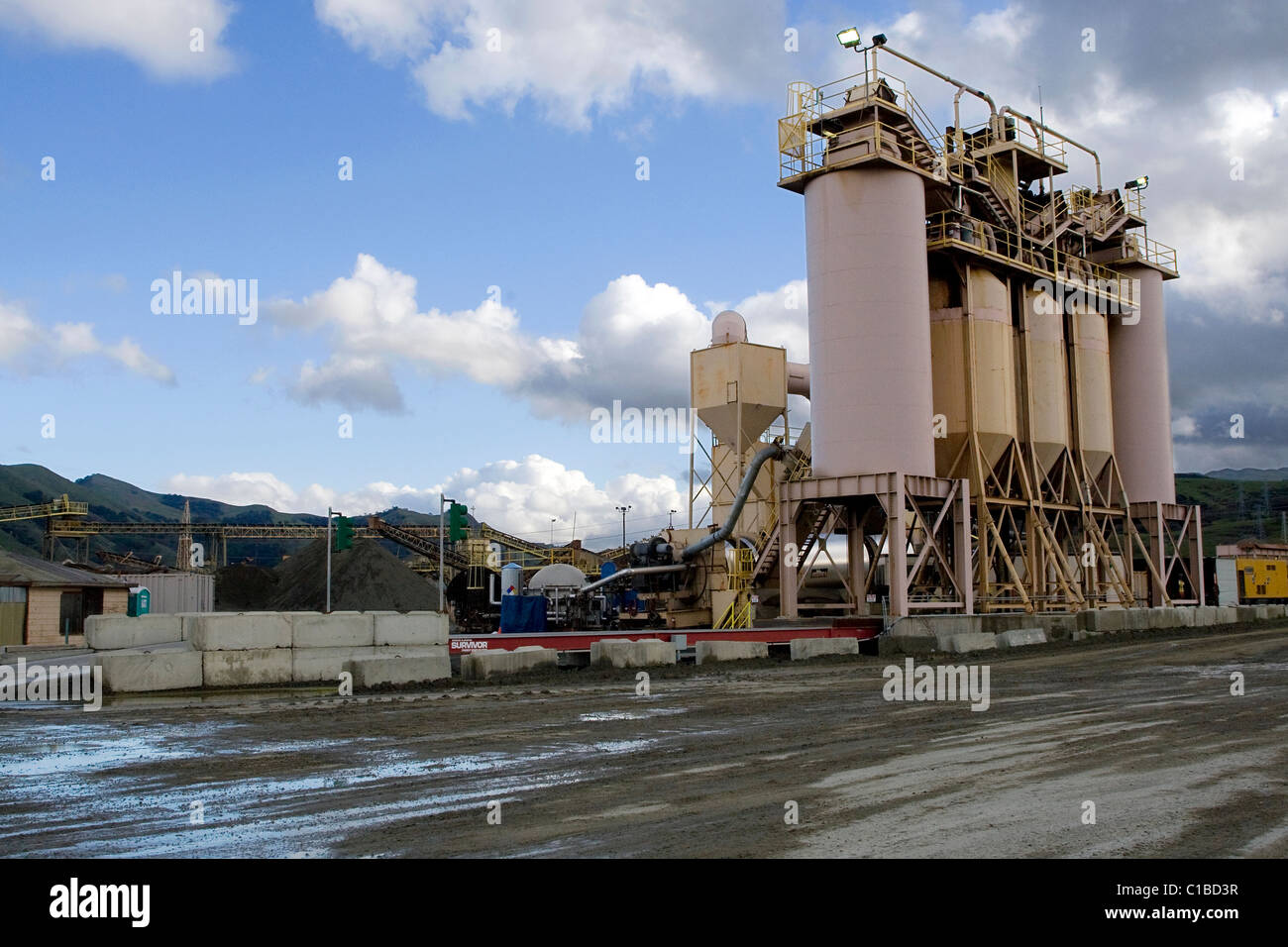 A gravel mining factory. - Stock Image