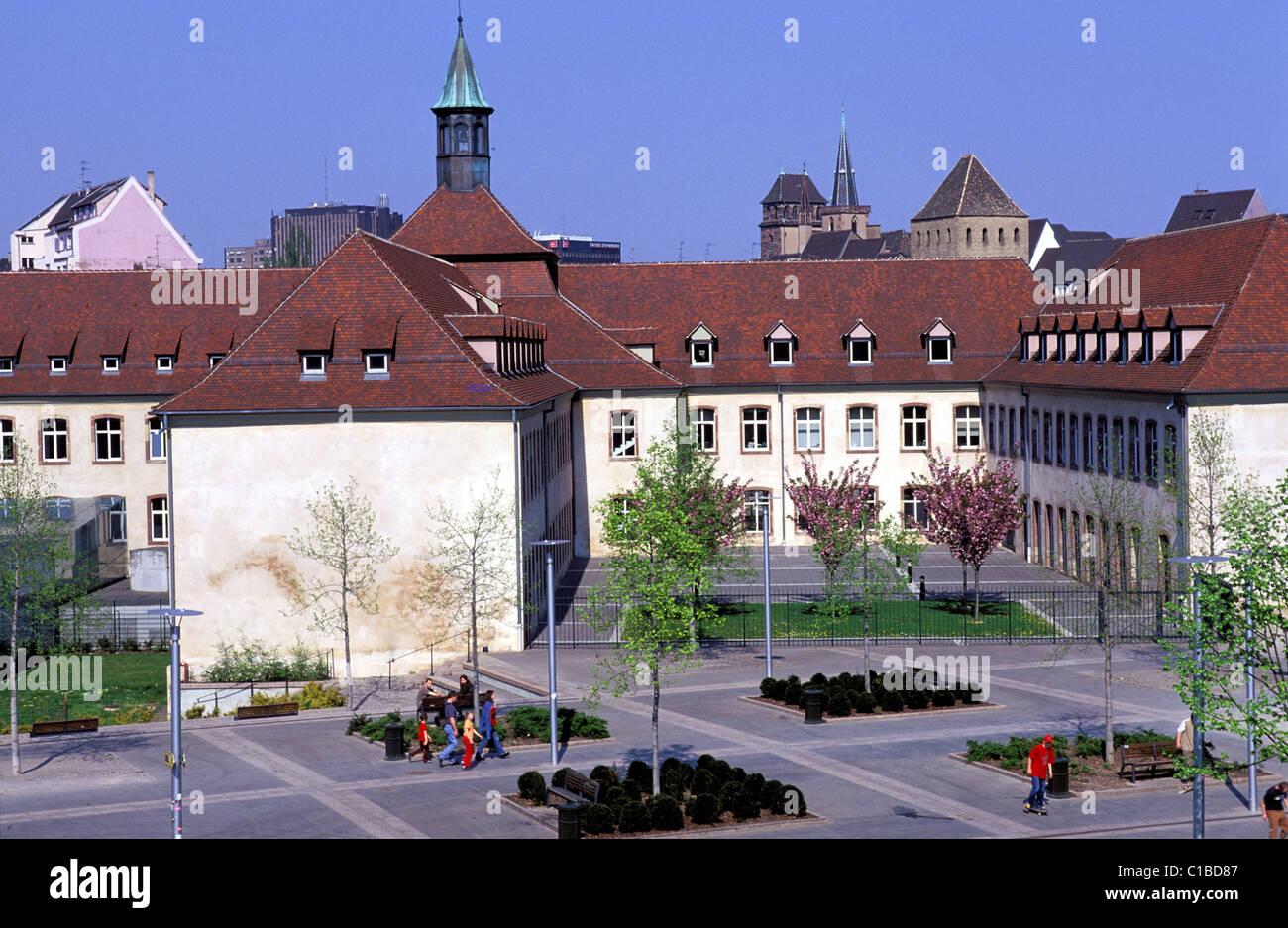 France, Bas Rhin, Strasbourg, ENA school in the old PRISON for women Stock Photo