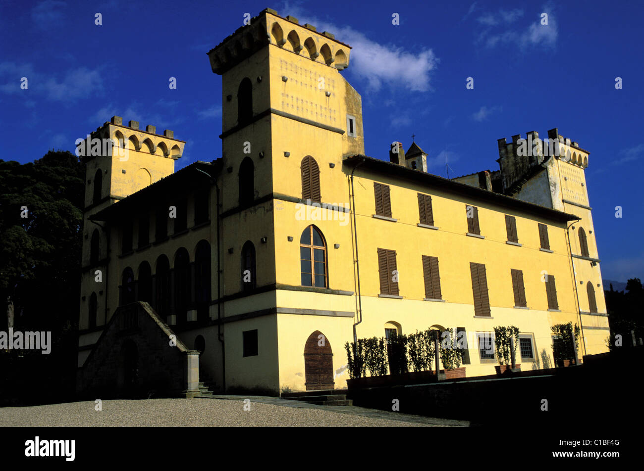 Italy, Tuscany, Sant' Agata, agritourism (farmhouse) Villa I Bonsi on the slopes of the Pratomagno - Stock Image