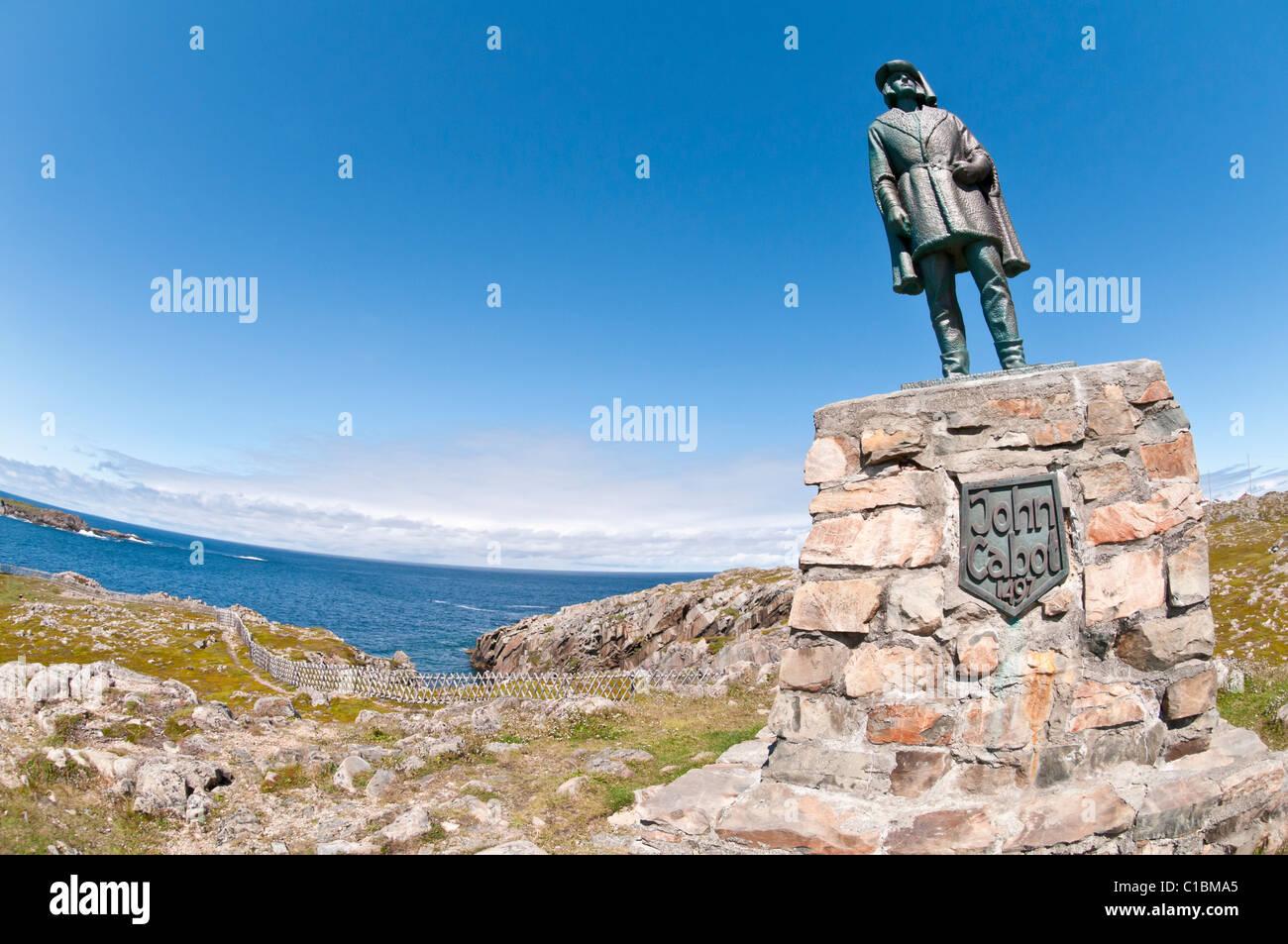 Statue of John Cabot, Cape Bonavista, Bonavista Peninsula, Newfoundland, Canada - Stock Image
