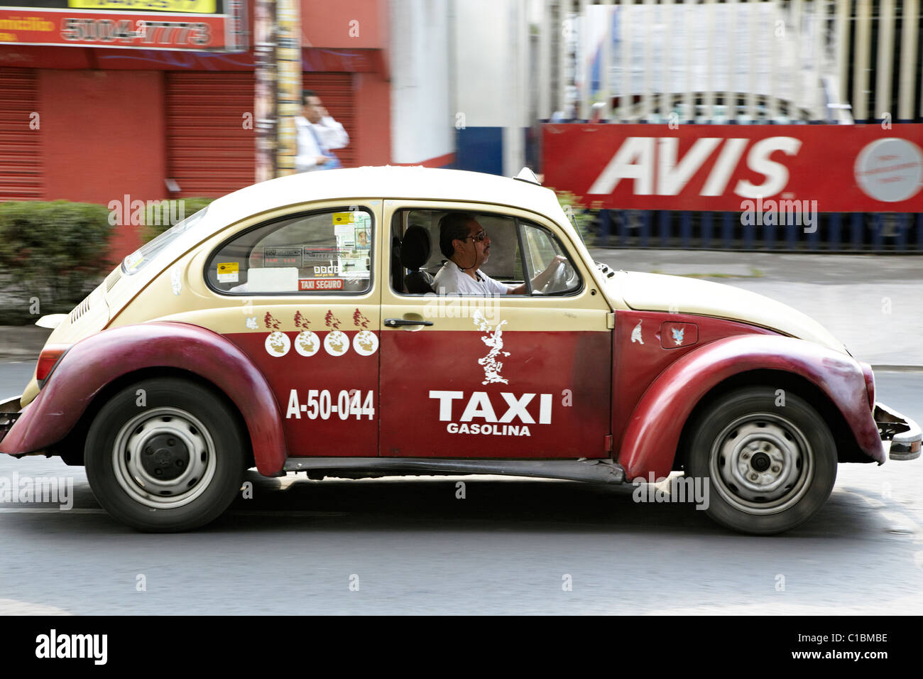 VW Beetle Taxi Mexico City Mexico - Stock Image
