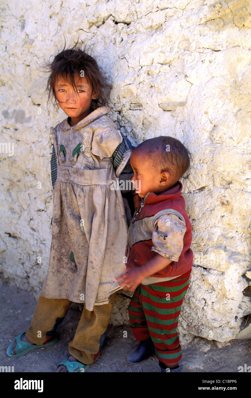 Nepal West Region Kingdom Of Mustang Children Of The Village Of