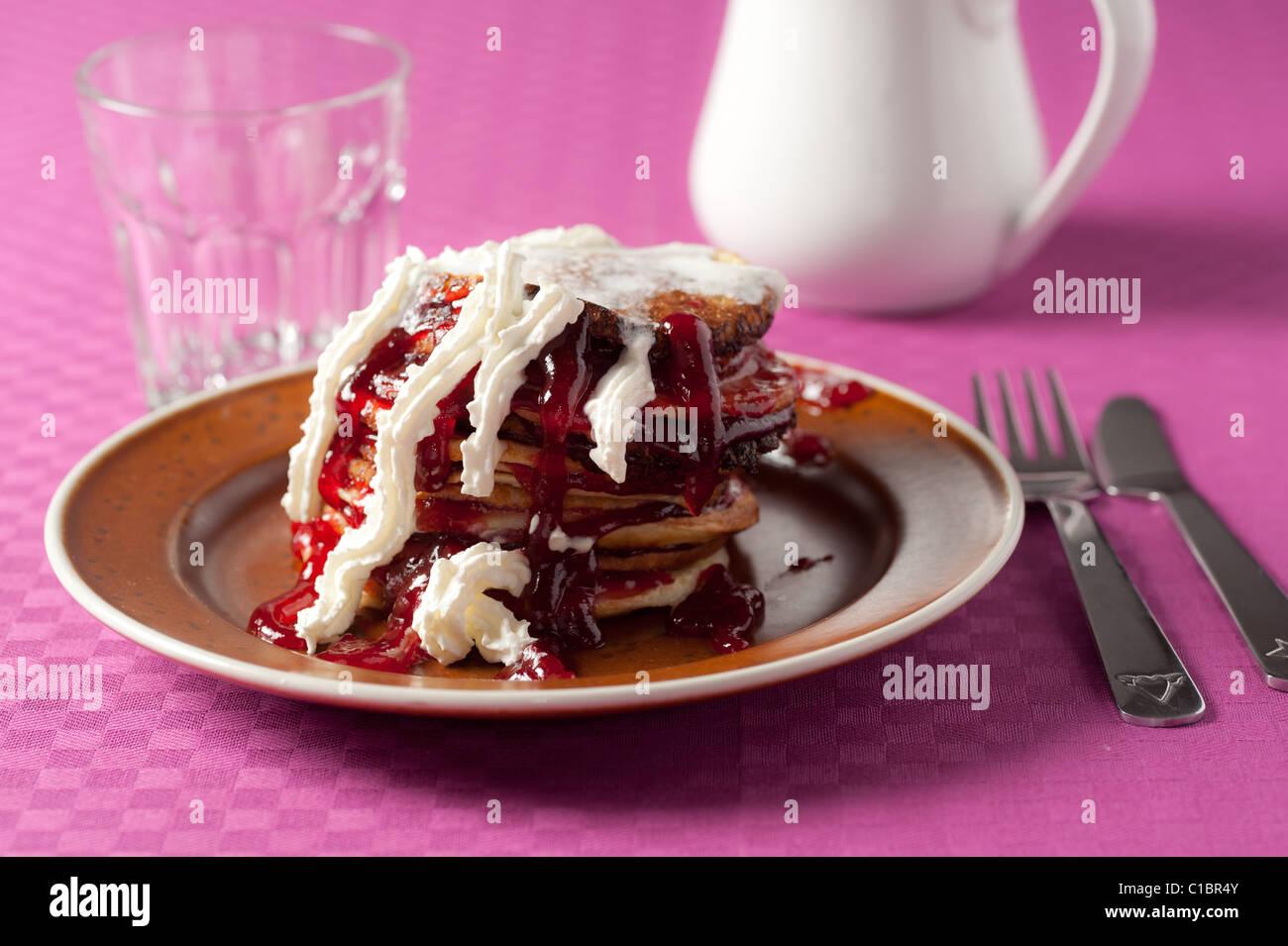 Mess of pancakes - Stock Image