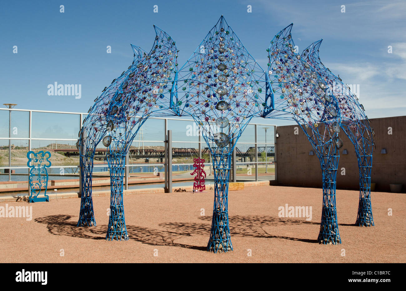 In the Sculpture Garden at the Tempe Center for the Arts in Tempe, near Phoenix, Arizona, USA - Stock Image
