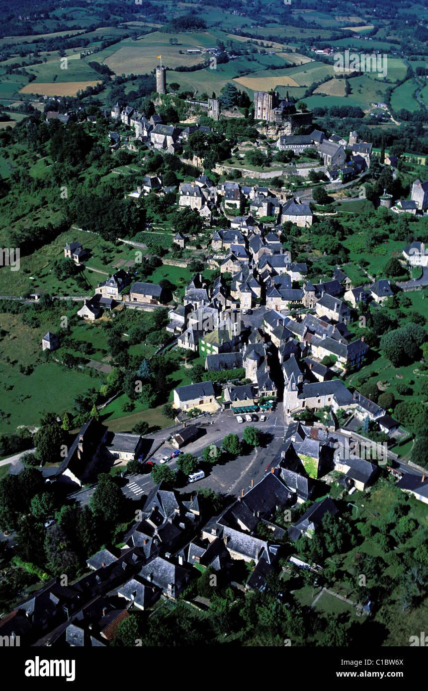 France Correze Turenne labelled Les Plus Beaux Villages de France (The Most Beautiful Villages of France) the village - Stock Image