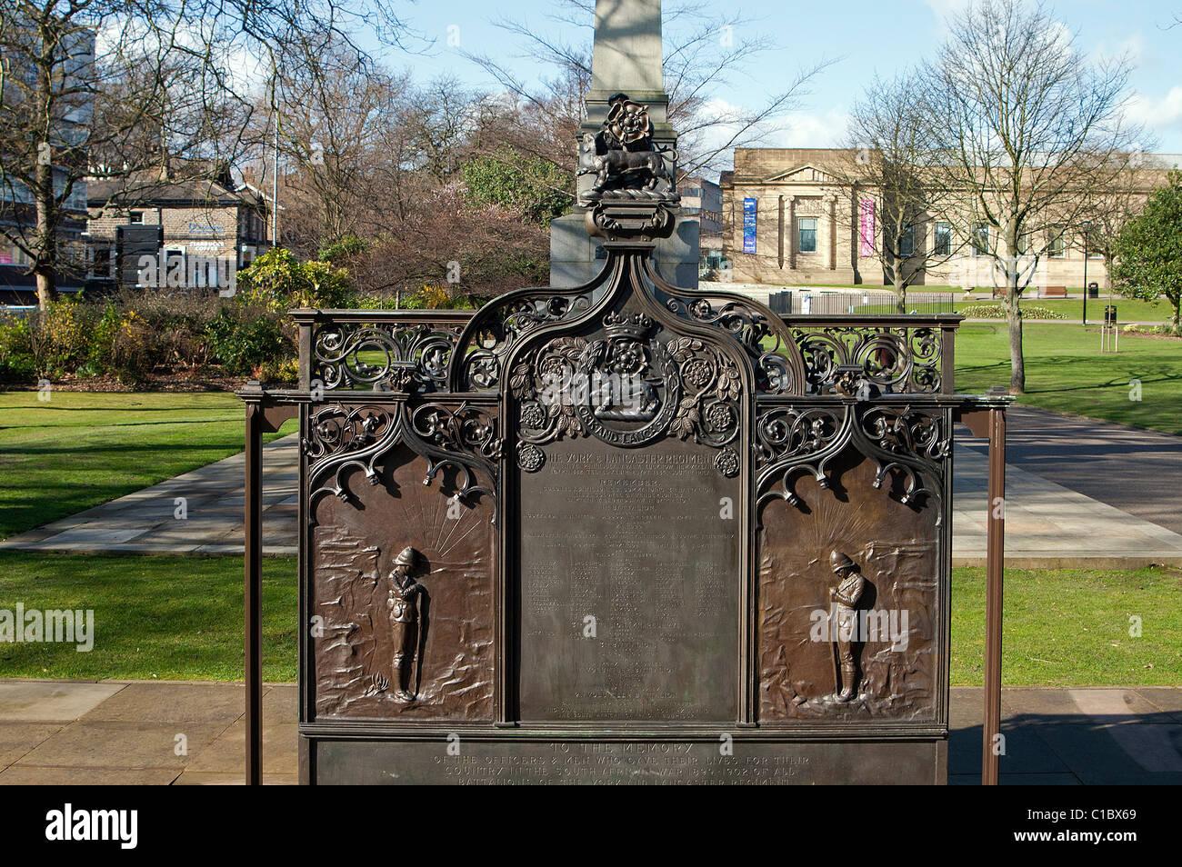 Boer War Memorial, Weston Park Sheffield - Stock Image