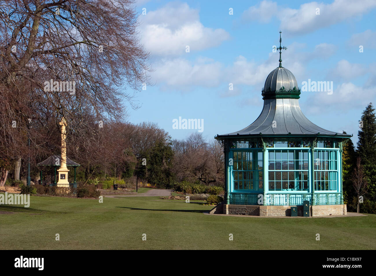 Godfrey Sykes Memorial and Bandstand, Weston Park Sheffield - Stock Image