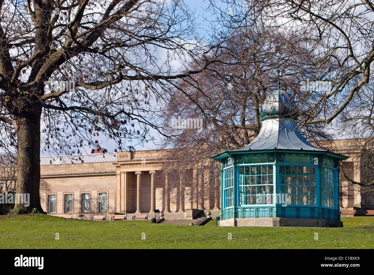 Weston Park Museum and Bandstand Sheffield - Stock Image
