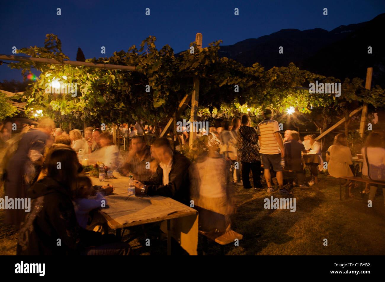 Uva e dintorni fest, Sabbionara d'Avio, Vallagarina, Trentino Alto Adige, Italy - Stock Image