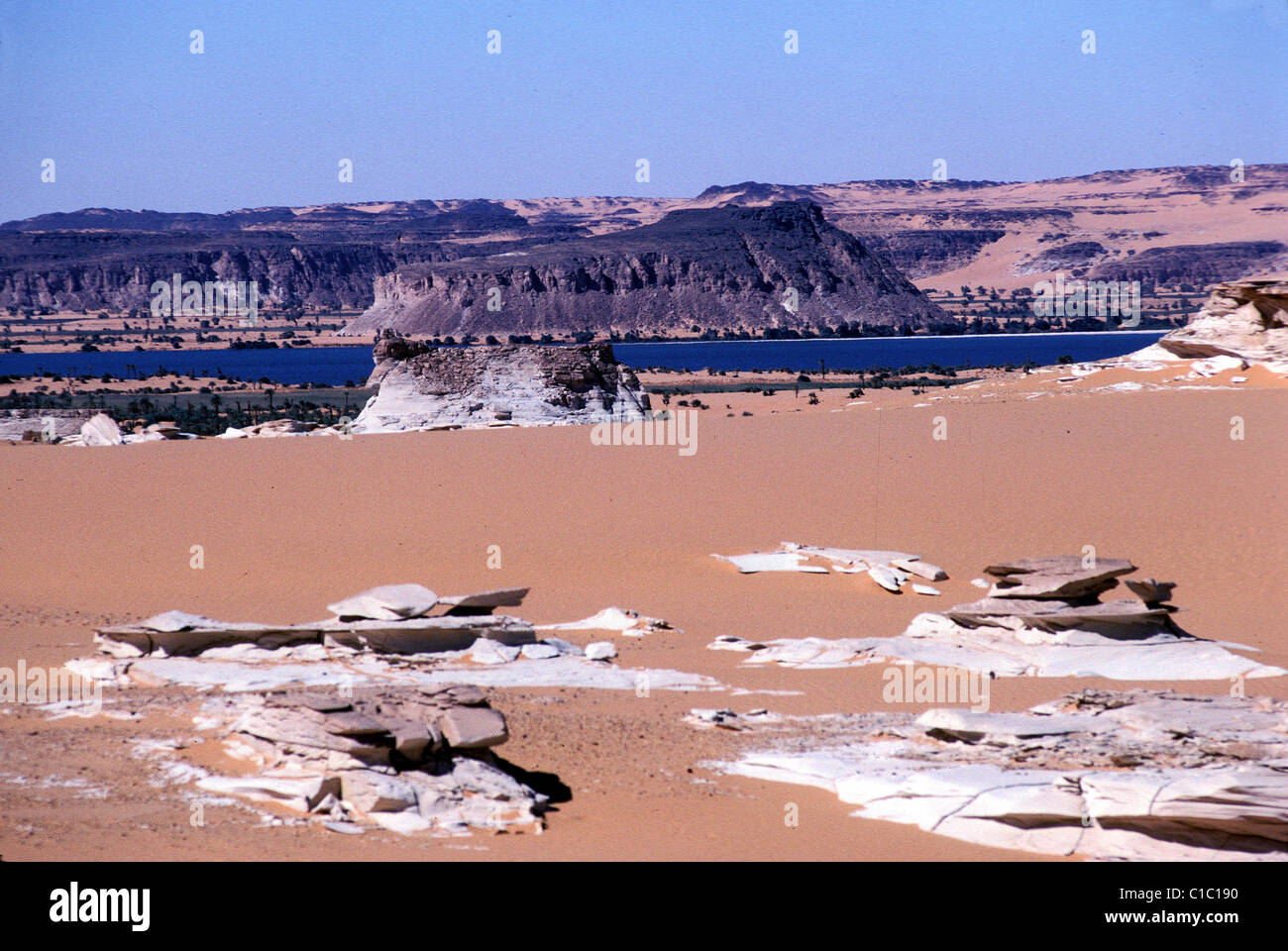 Chad, Ennedi, Lake Ounianga, Serir - Stock Image
