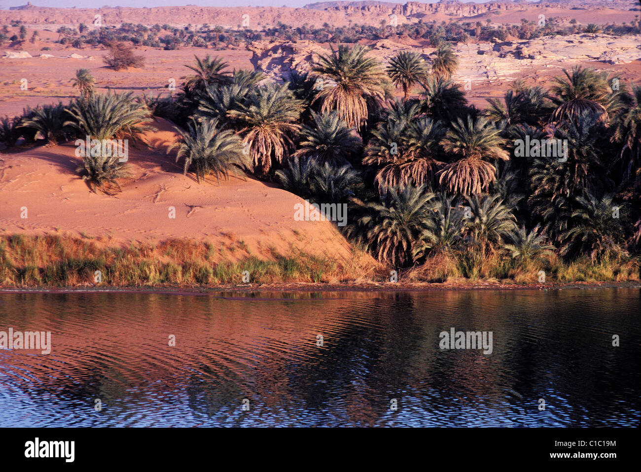 Chad, Ennedi, Ounianga Kebir, Lake Yoa - Stock Image