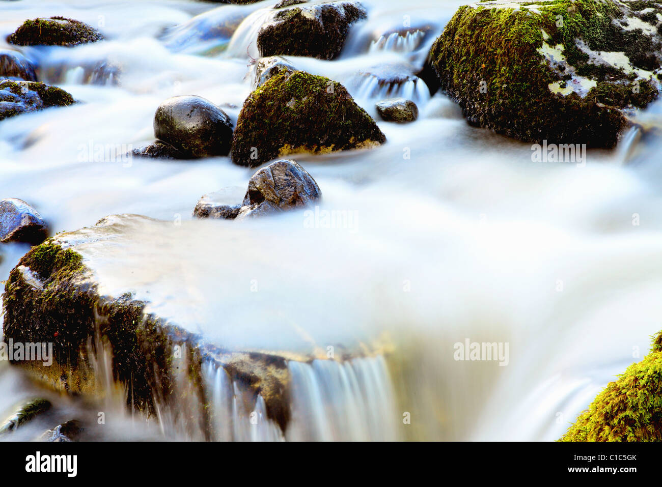 Smokey water in the lake district - Stock Image