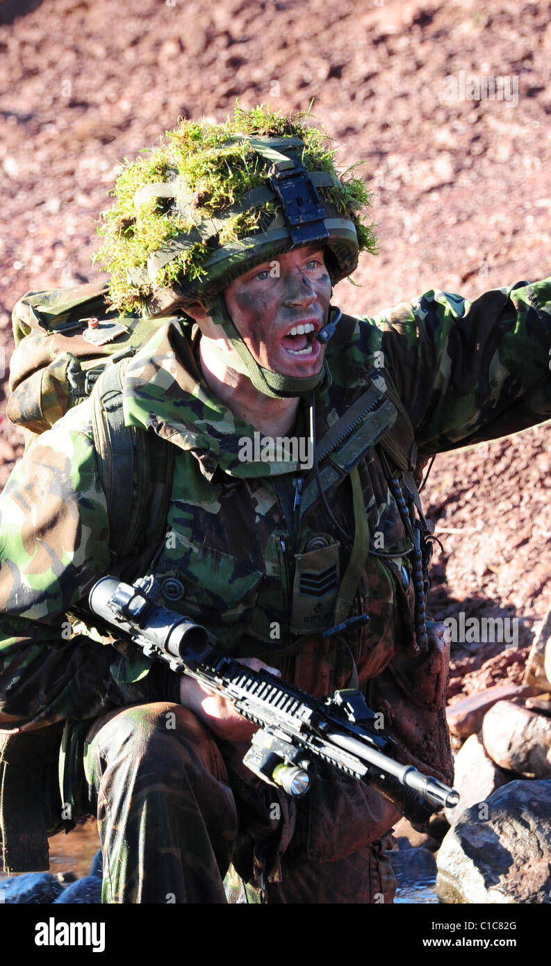 PSBC is a promotion qualifying-course, to Sergeant, for Rifle Company Platoon Sergeants. The course is run in January, - Stock Image