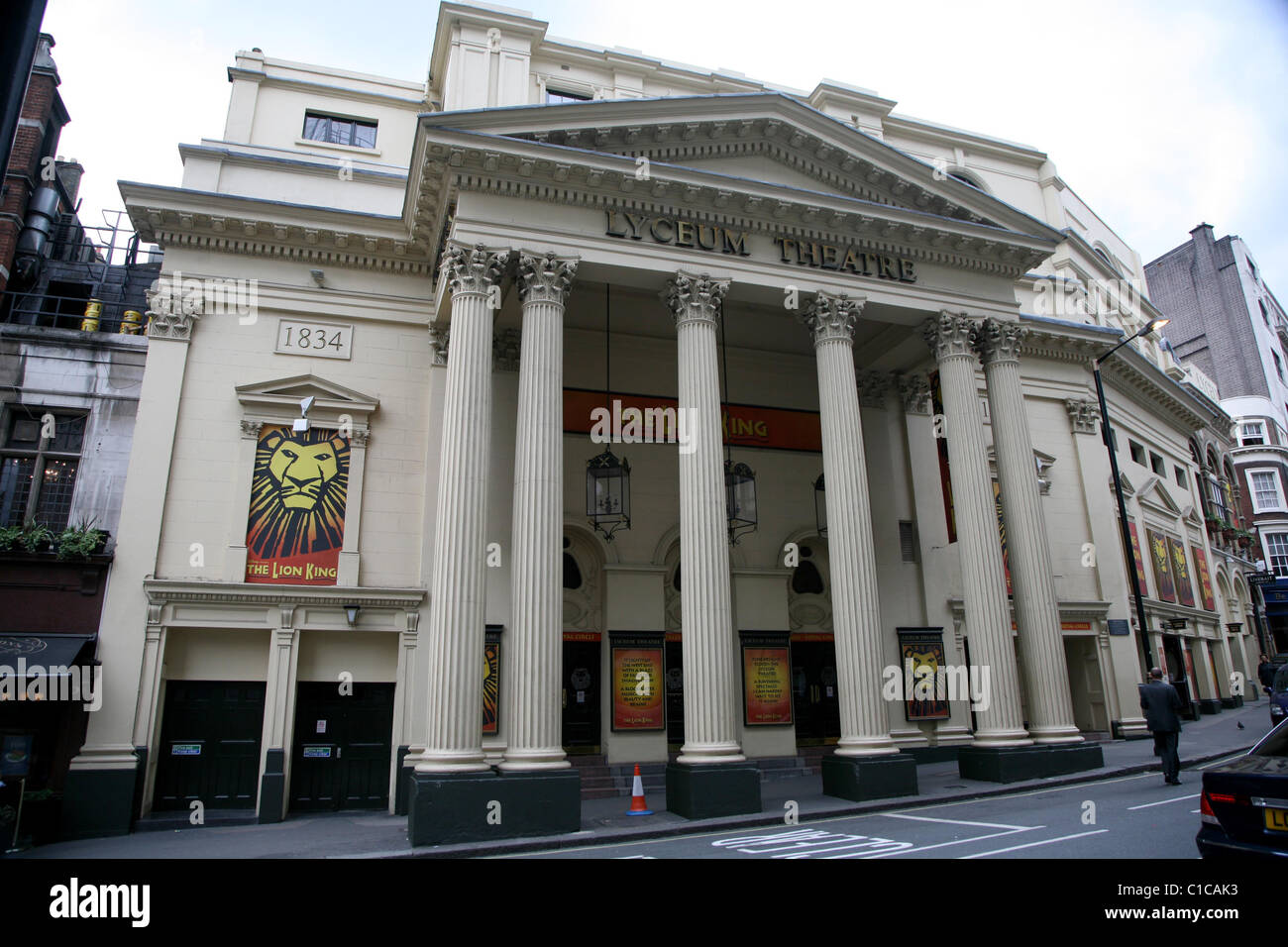 General View gv of the Lyceum Theatre in London, England. - Stock Image