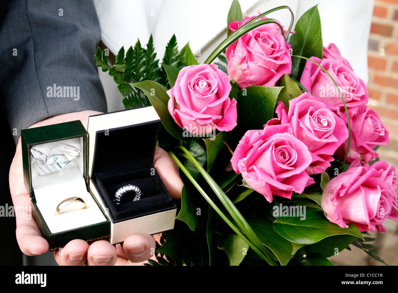 Wedding Rings On Display Stock Photos & Wedding Rings On Display ...