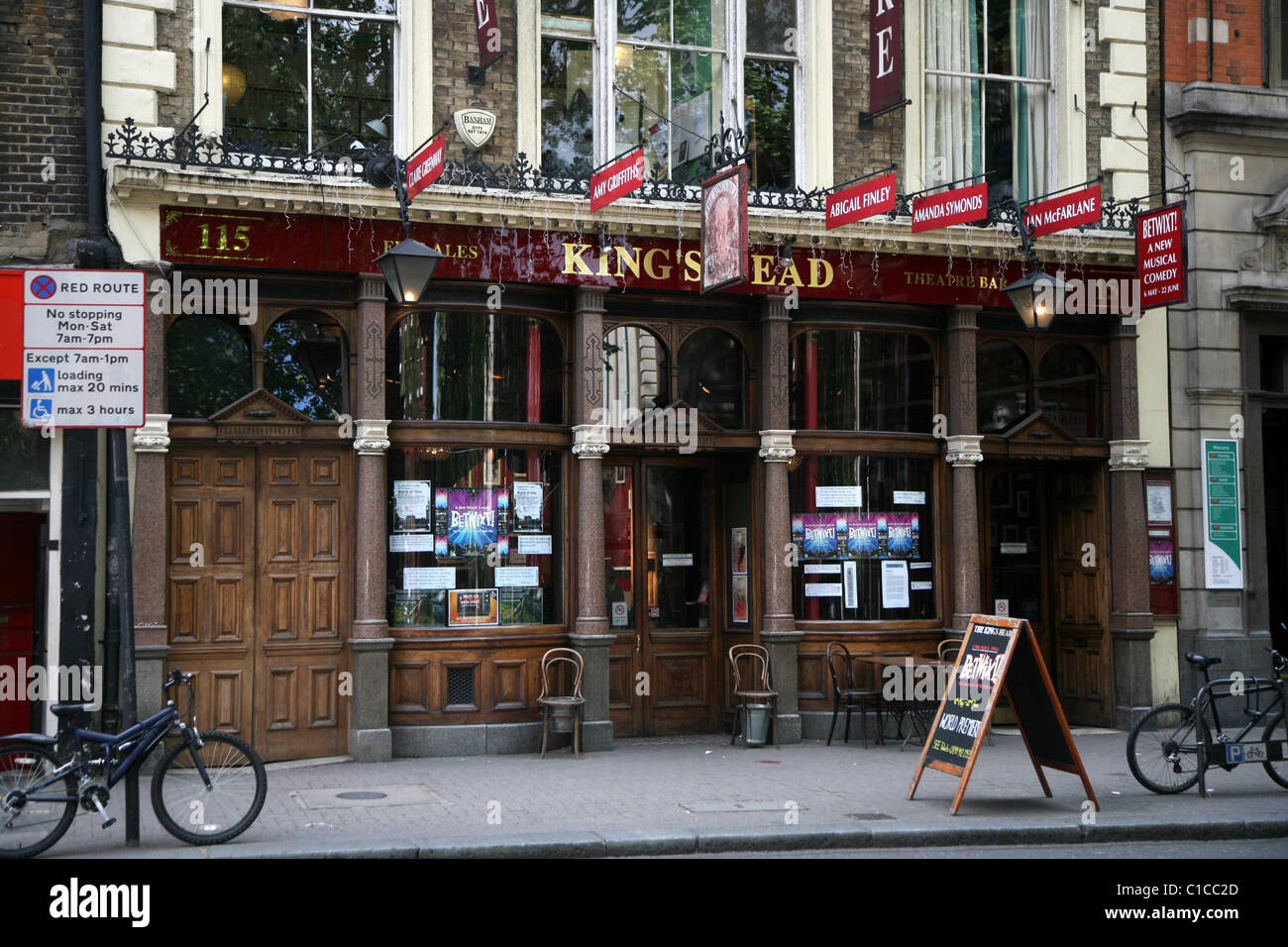 General View gv of the Kings Head Theatre Pub in Islington, London, England. - Stock Image