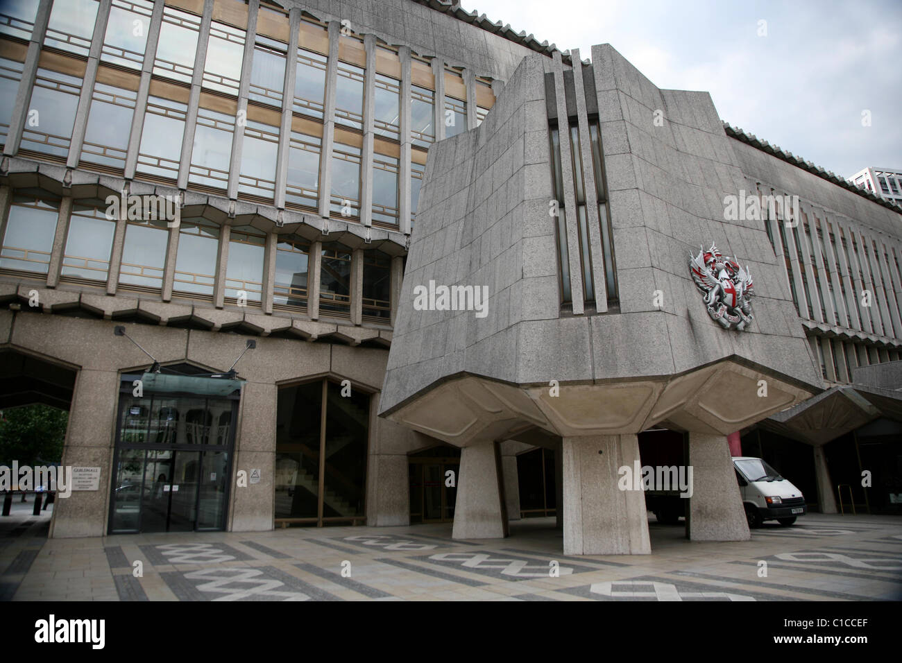 General View gv of Guildhall in Barbican,  London, England. - Stock Image