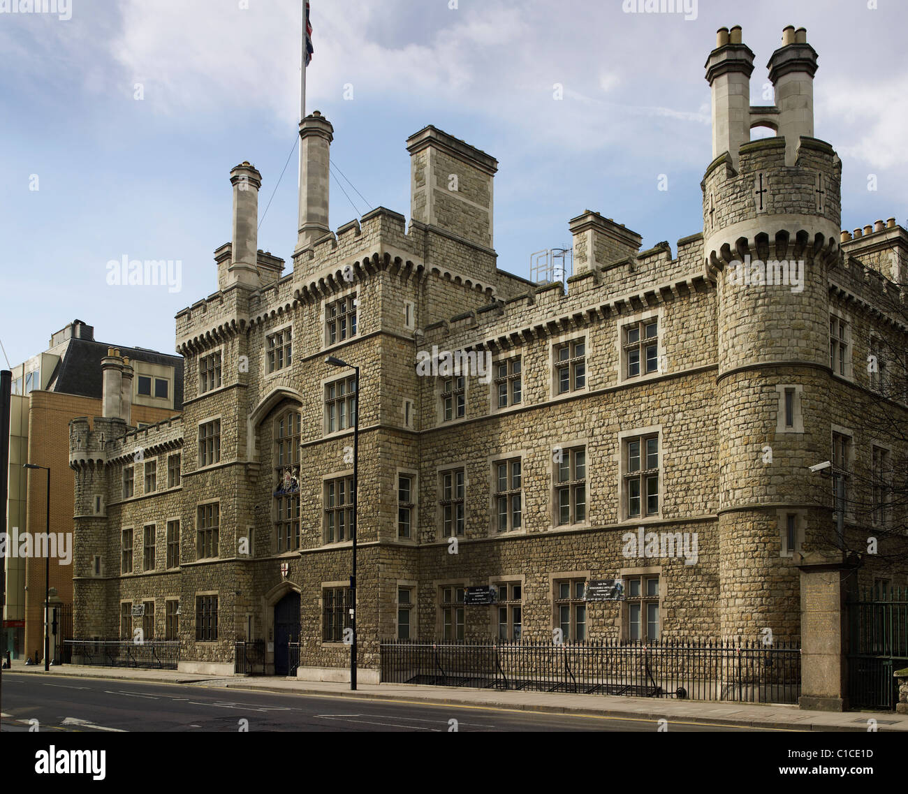 Finsbury Barracks, City Road, London, Royal London Militia HQ., by the architect Joseph Jennings. Completed in 1857 - Stock Image