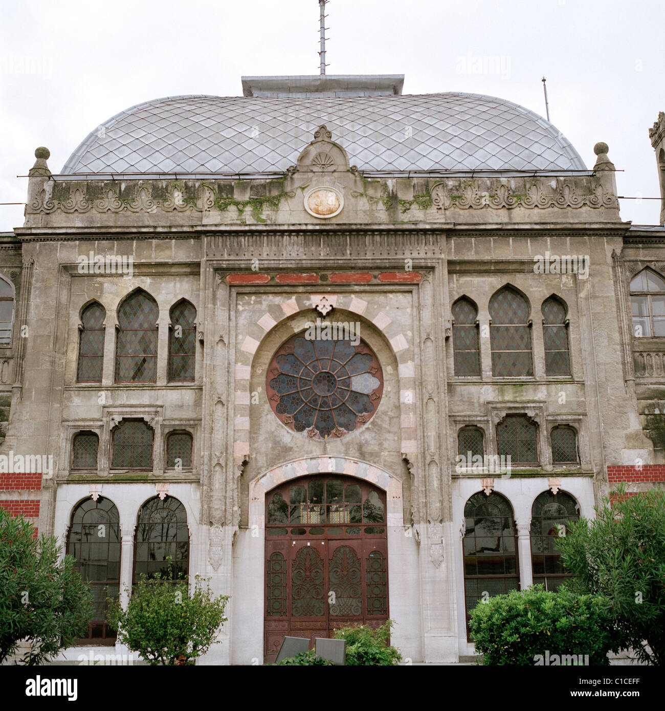 Sirkeci Train Railway Station in Eminonu in Istanbul in Turkey in Middle East Asia. Orient Express History Historical - Stock Image