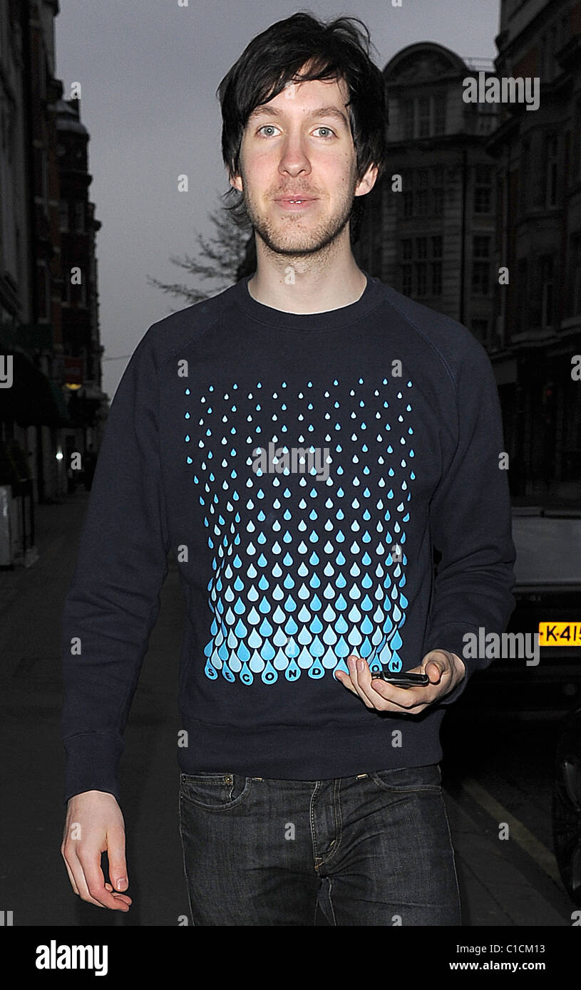 Calvin Harris leaves the Radio 1 studios, having celebrated his Stock Photo - Alamy