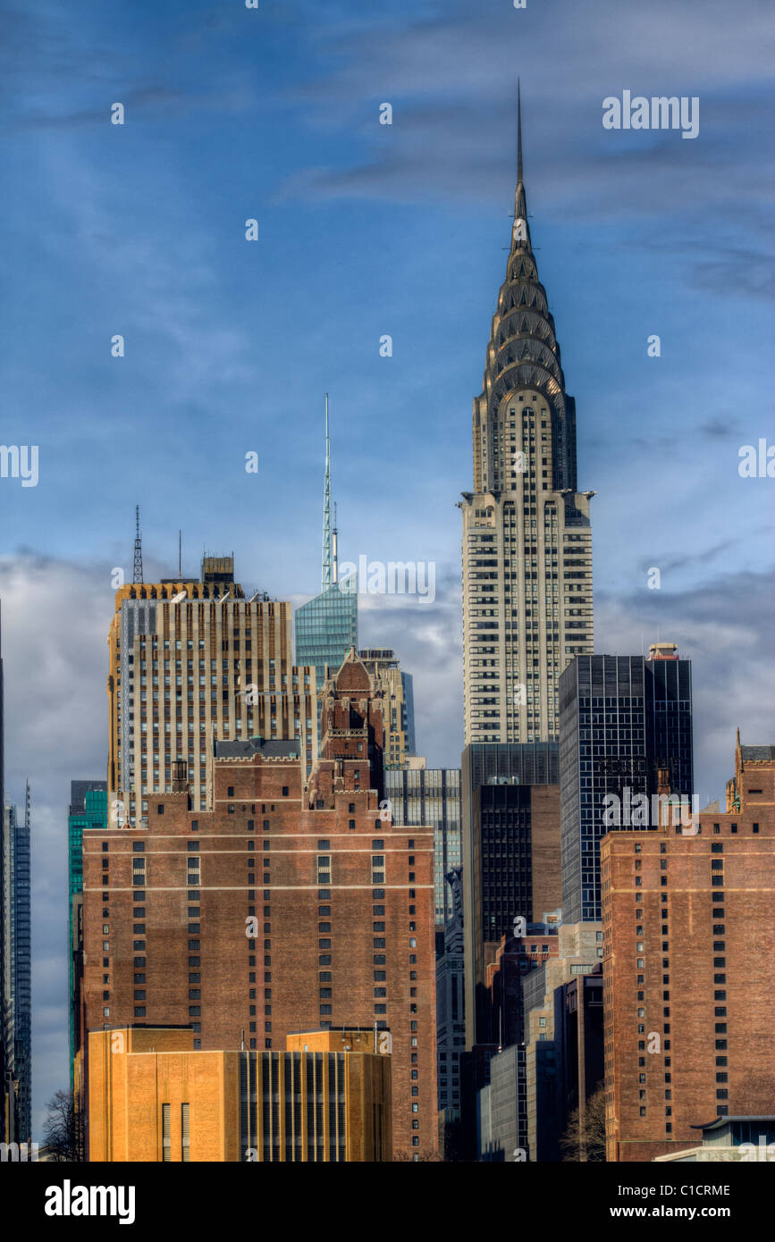 Chrysler Building in midtown Manhattan - Stock Image