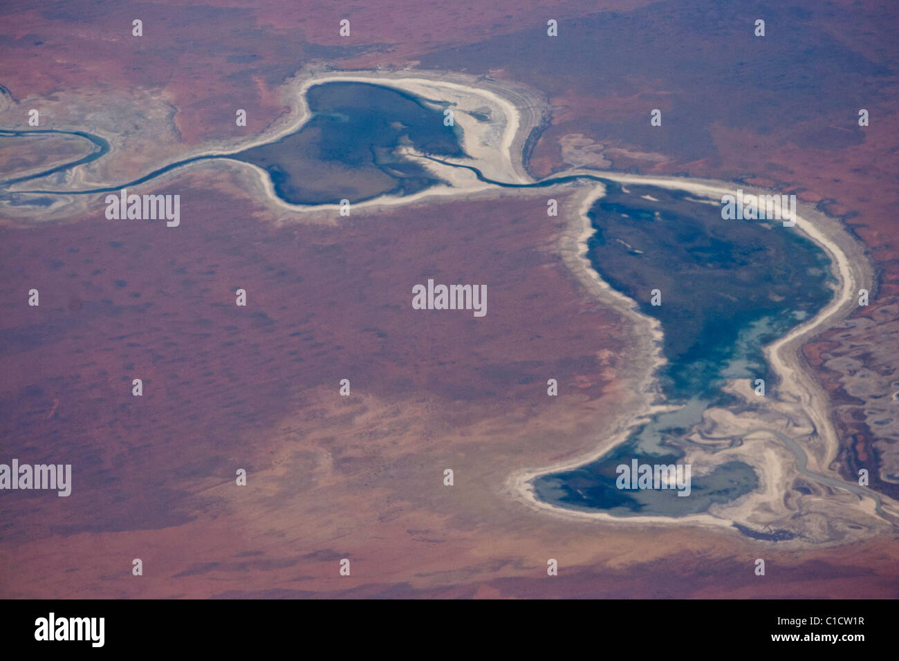 In the air over Central Australia - Stock Image