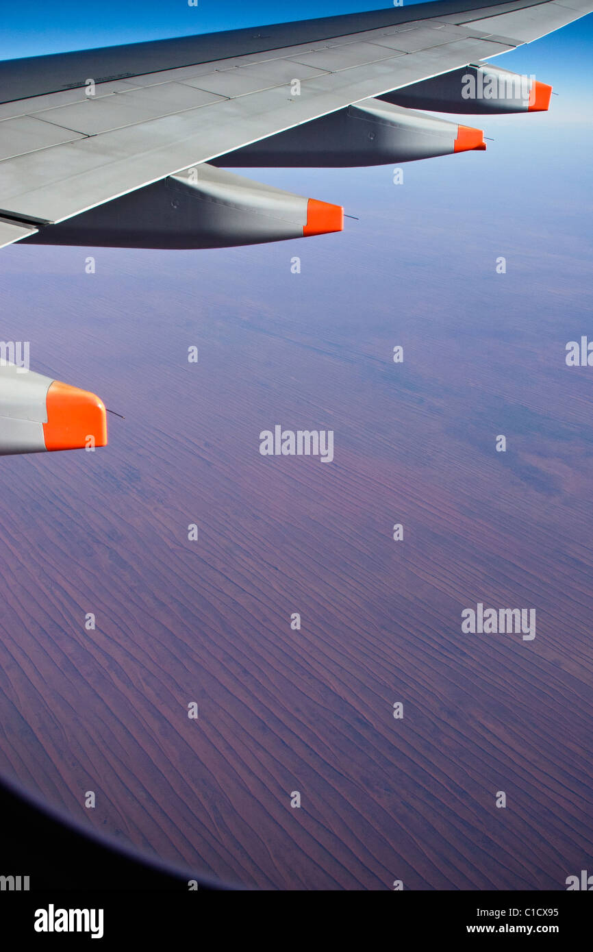 In the air over the Simpson Desert, Central Australia - Stock Image