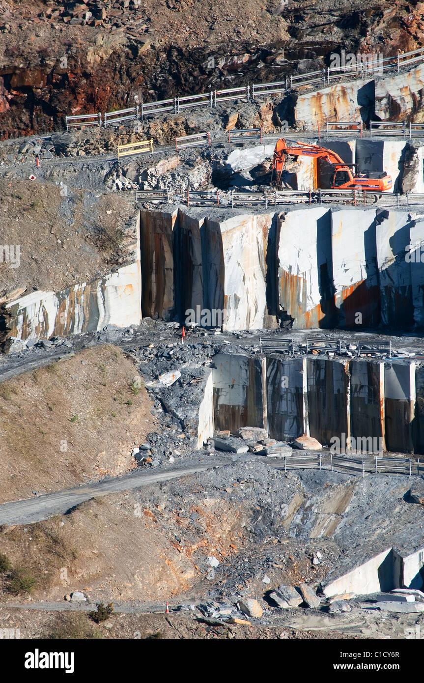 Delabole slate quarry, Delabole, Cornwall, UK - Stock Image