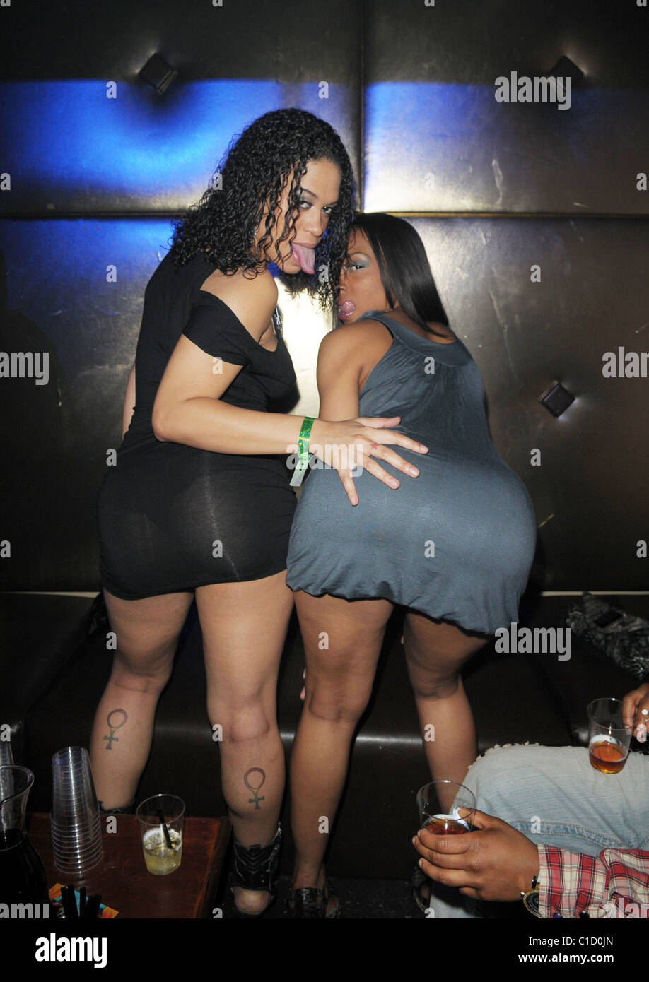 Chyanne Jacobs Celebrates Her Birthday With A Friend At Club Sobe Live Miami Beach Florida