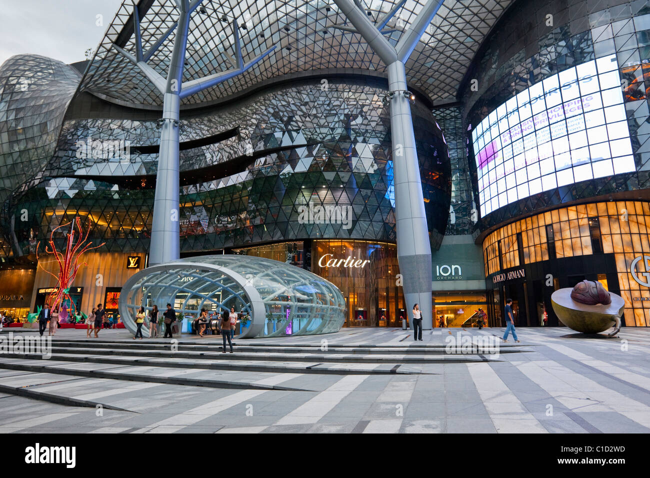 ION Orchard Mall, in the shopping district of Orchard Road, Singapore - Stock Image