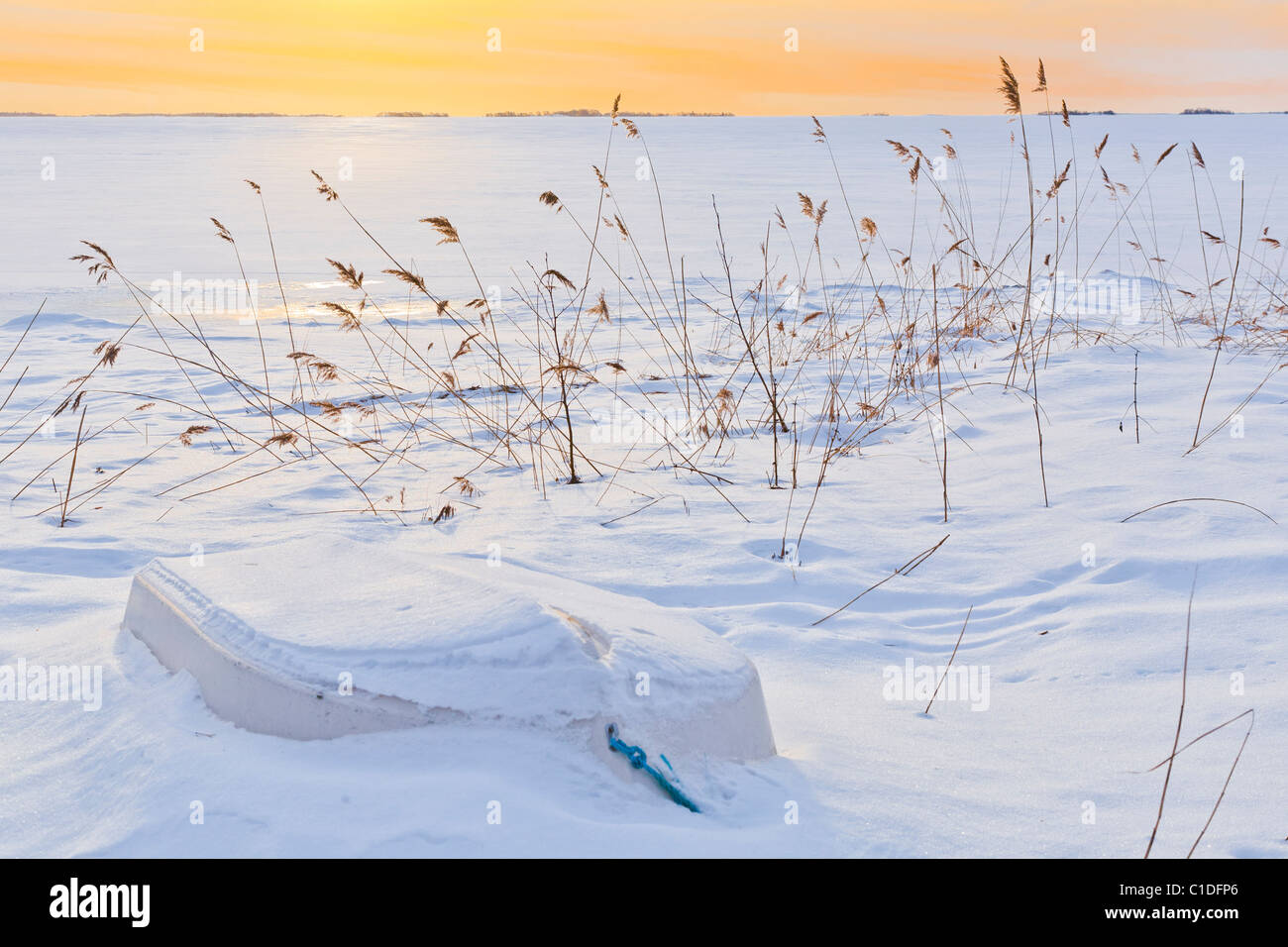 Winter afternoon in the 'Archipelago of Stockholm', Sweden. - Stock Image