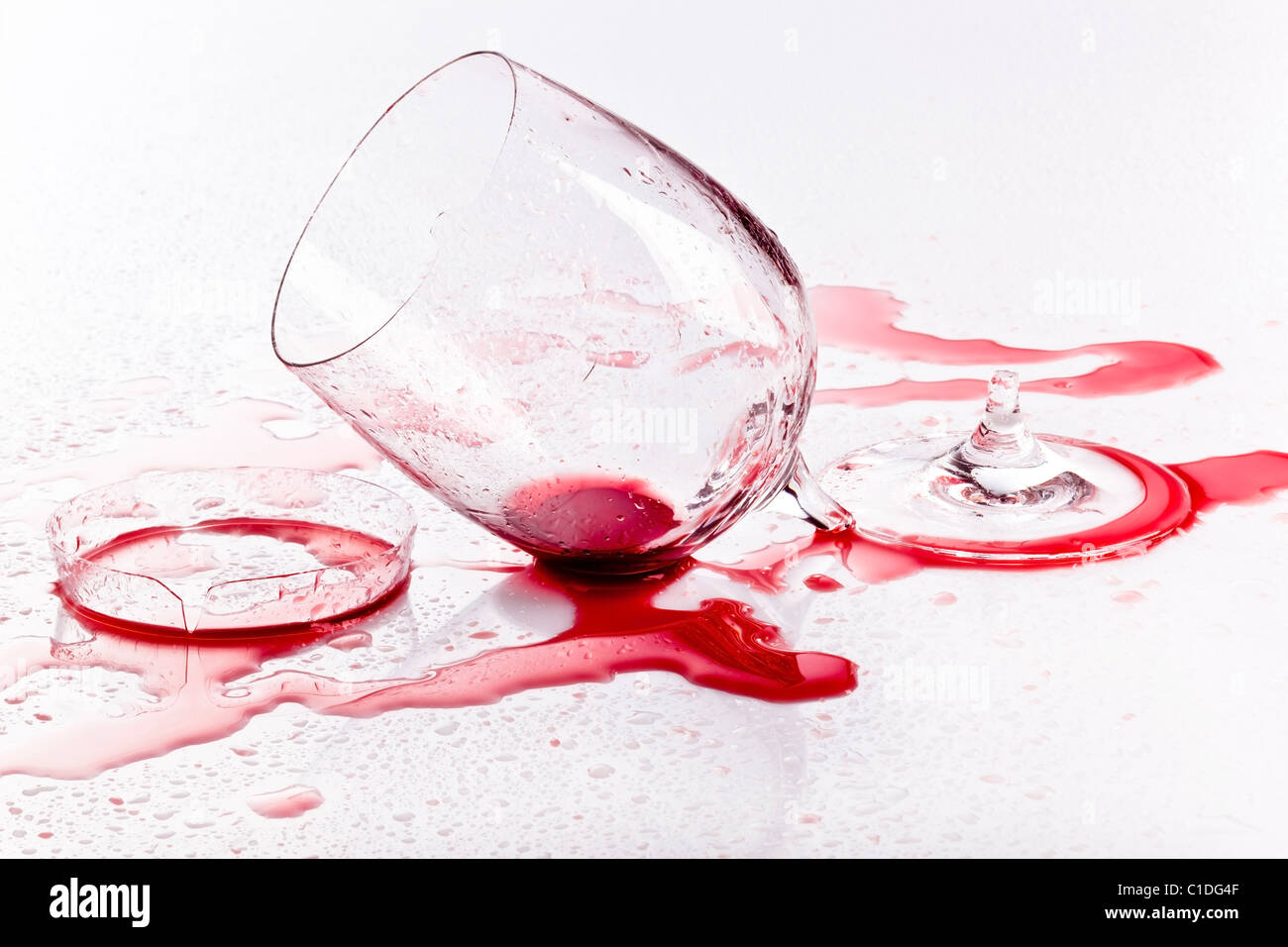 a wine glass broken red wine spilled stock photo 35333439 alamy