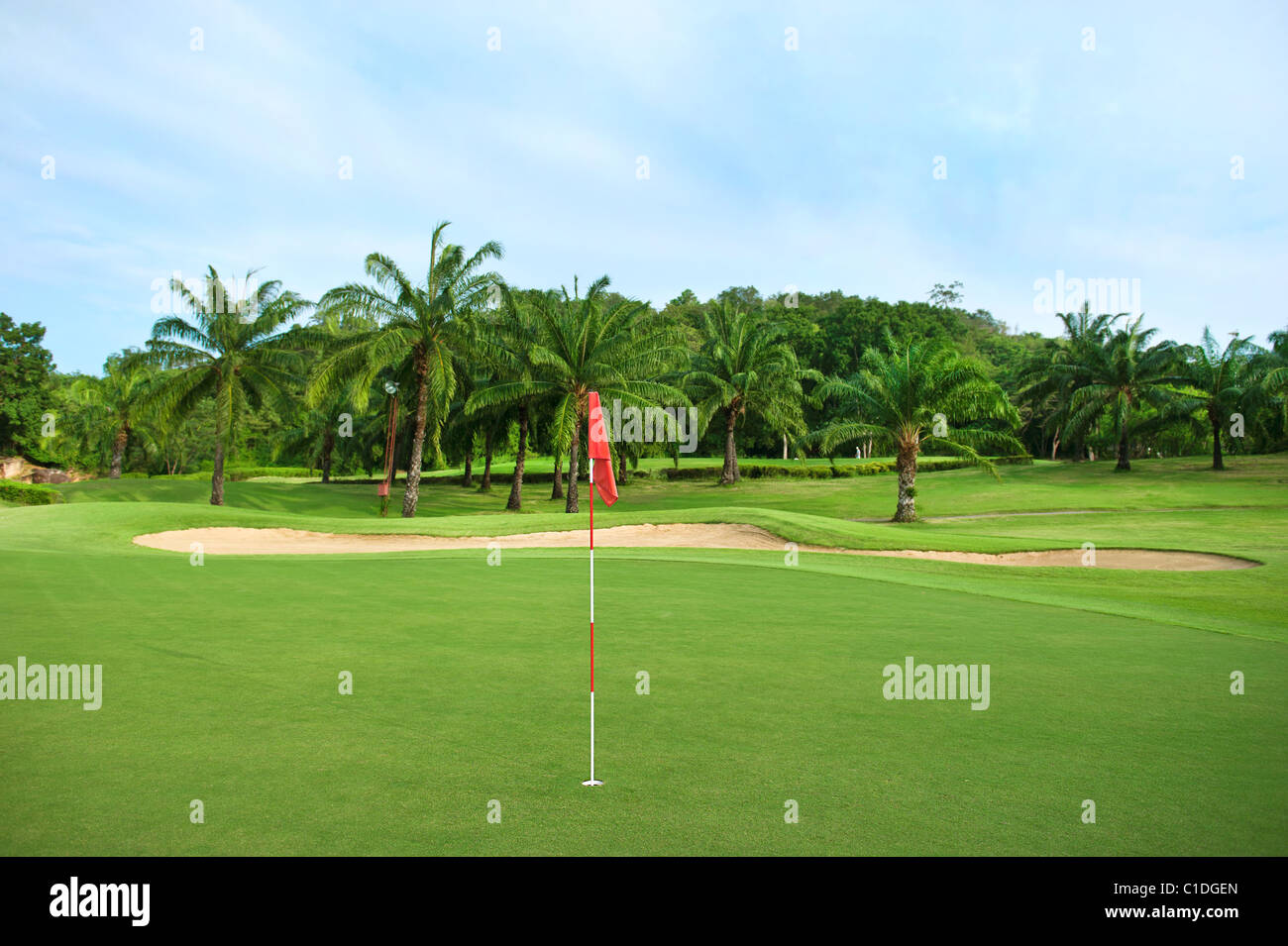 Golf field in Thailand, Hua Hin - Stock Image