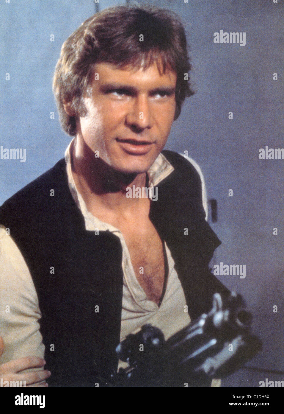 STAR WARS EPISODE IV - A NEW HOPE 1977 Lucasfilm/Paramount film with Harrison Ford as Luke Skywalker - Stock Image