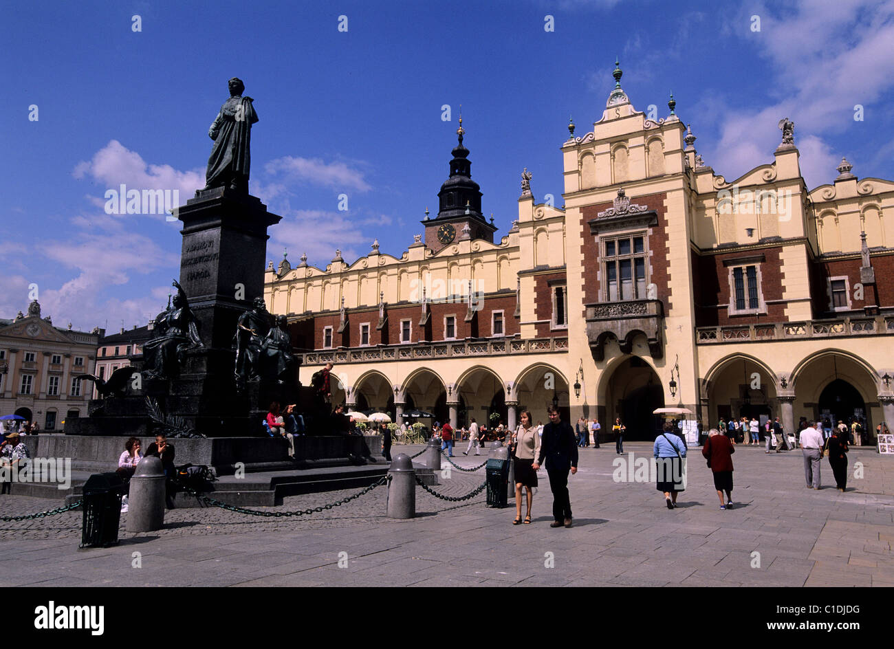 Poland Lesser Poland region Krakow old town (Stare Miasto) the Sukiennice (Cloth Hall) on the market square & - Stock Image